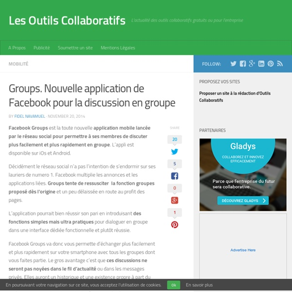 Groups. Nouvelle application de Facebook pour la discussion en groupe