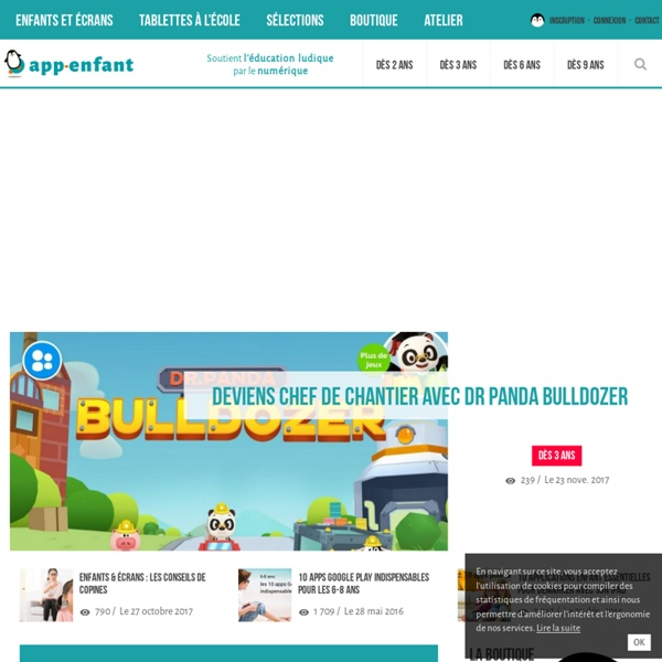 Application enfant sur iPad, iPhone et Android