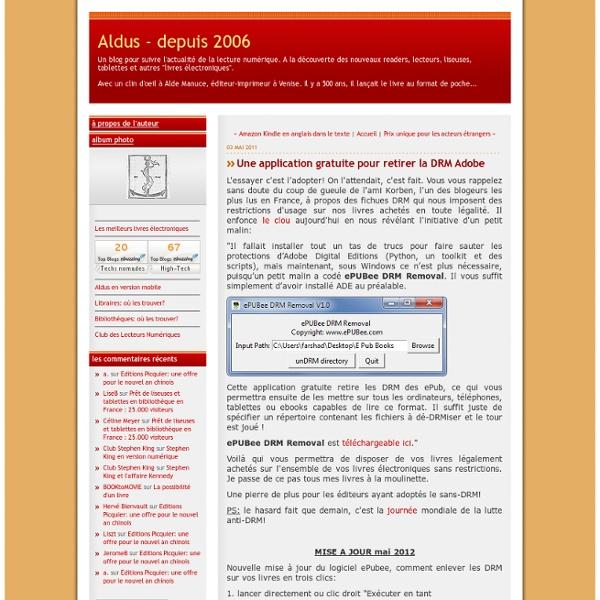 Une application gratuite pour retirer la DRM Adobe