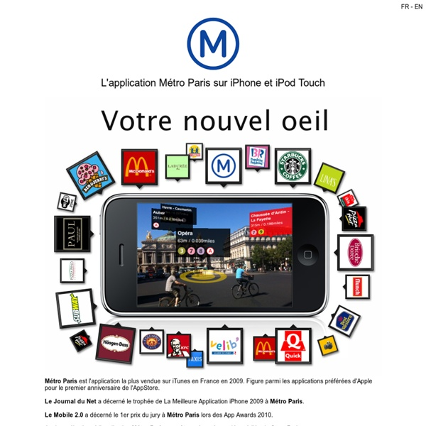 L'application Métro Paris sur iPhone et iPod Touch