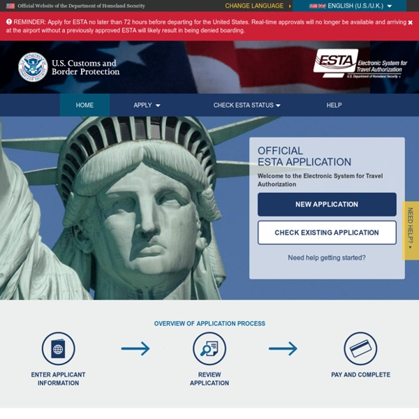 Electronic System For Travel Authorization