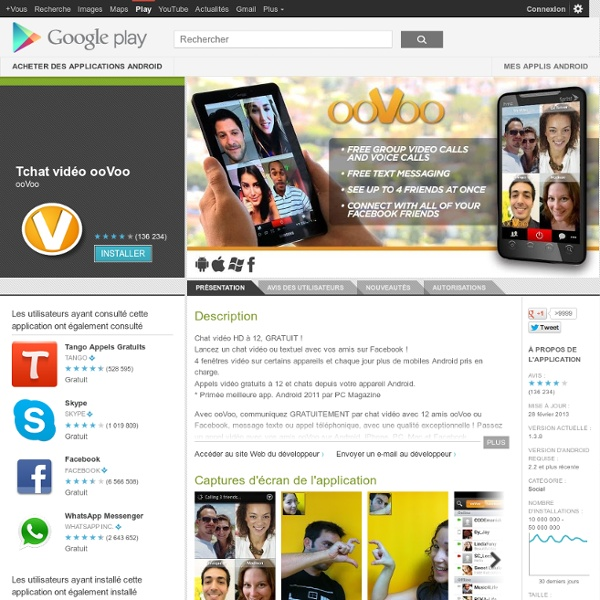 rencontre oovoo The internet has many video chat websites in case you are looking for one, do not spend time searching on the web simply give my list of top 12 sites for.