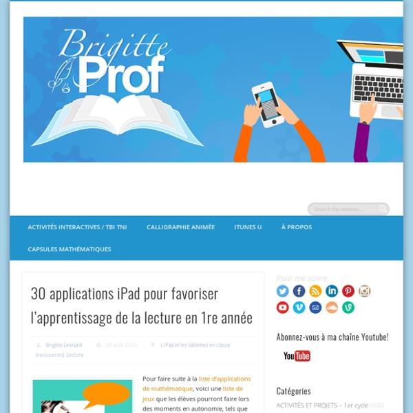 30 applications iPad pour favoriser l'apprentissage de la lecture en 1re année