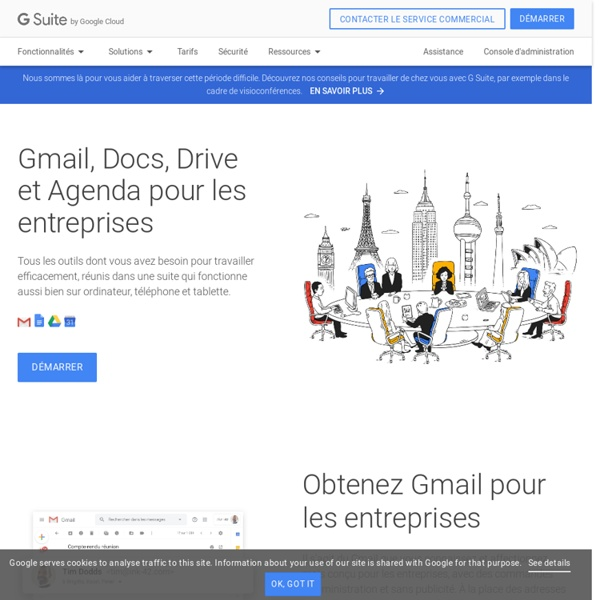 GSuite – Gmail, Drive, Docs et bien plus