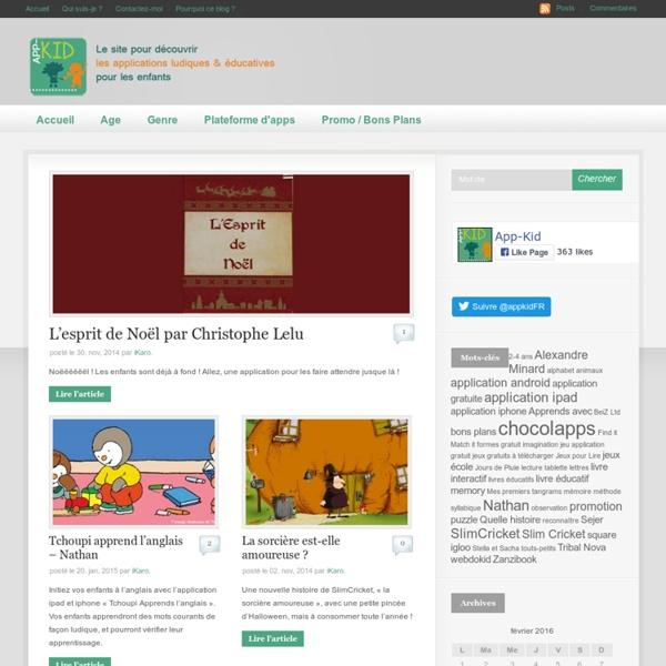 App-Kid : des applications Ipad Iphone Android pour les enfants, ludiques et éducatives -