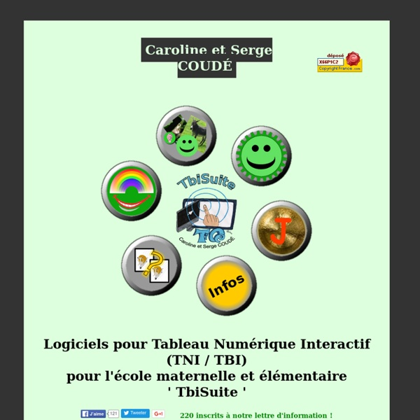 TbiSuite : Applications et logiciels libres et gratuits pour TBI / TNI pour l'école maternelle, élémentaire et primaire