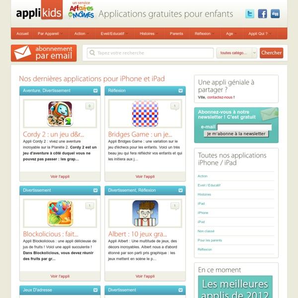 Applications gratuites pour enfants, iphone et ipad - Applikids