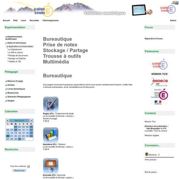 Tablettes - Aides et techniques - Applications incontournables