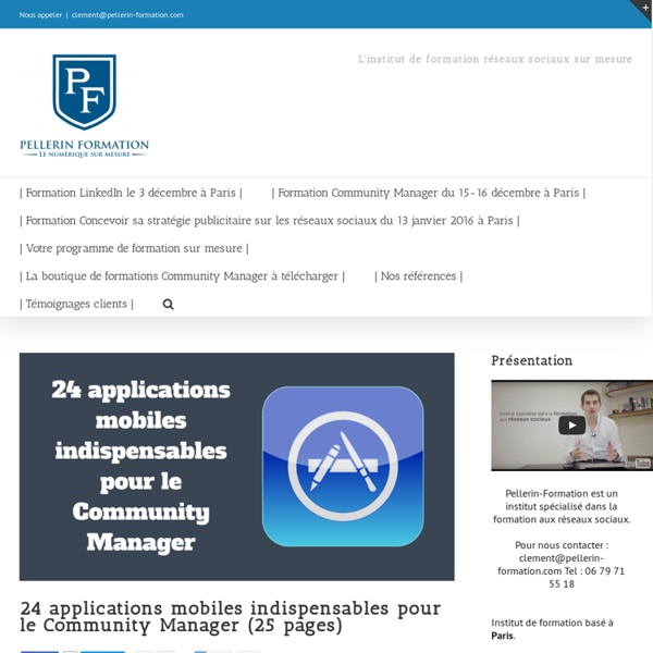 24 applications mobiles indispensables pour le Community Manager