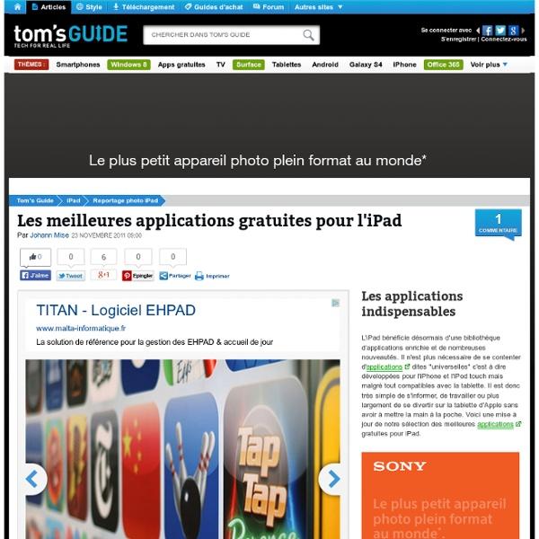 Les meilleures applications gratuites pour l'iPad : Les applications indispensables
