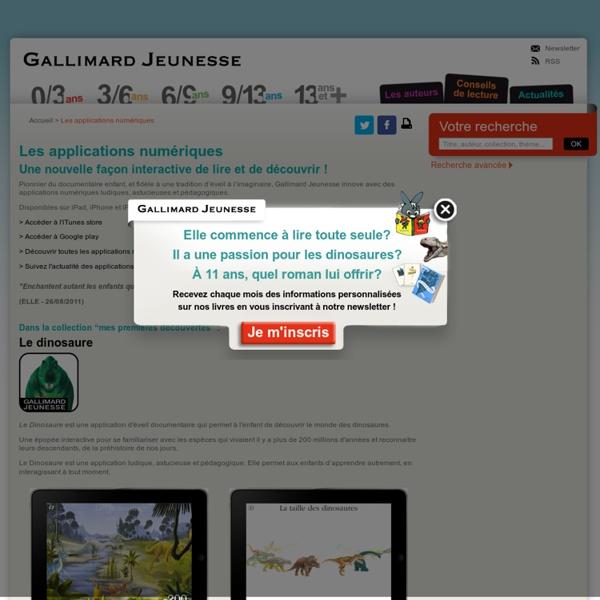 Les applications numériques - Livres pour enfants et littérature jeunesse
