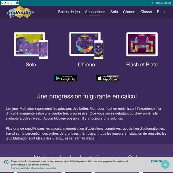 L'application pour tablette et smartphone