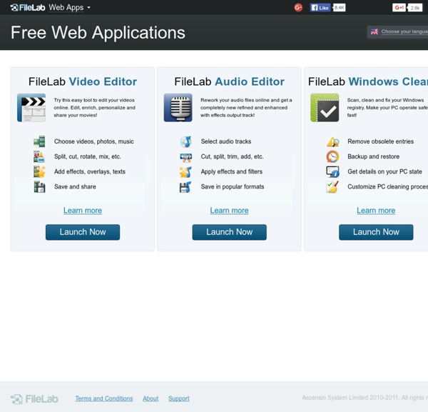 FileLab Web Applications: edit your multimedia files online for free!
