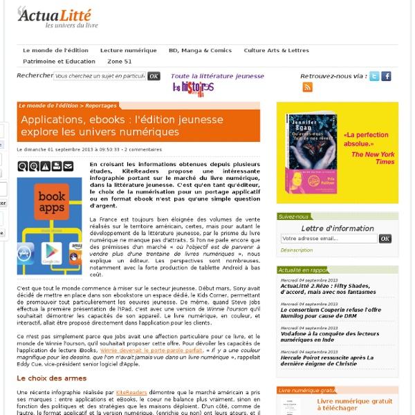 Applications, ebooks : l'édition jeunesse explore les univers numériques