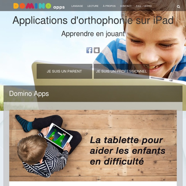 Domino-apps applications iPad pour professionnels : Nos applications