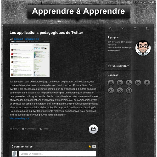 Les applications pédagogiques de Twitter