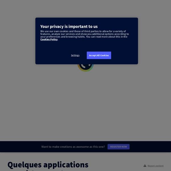 Quelques applications numériques utiles par philippe.cuq sur Genially