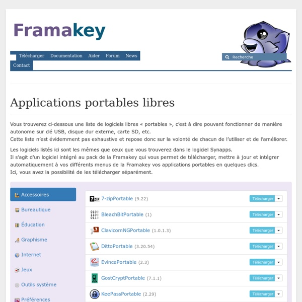 Applications portables libres – Framakey