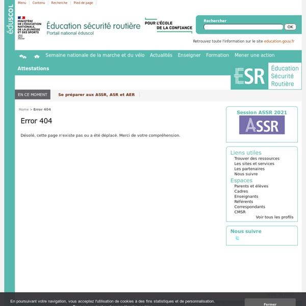 Applications ASSR sur tablettes et smartphones. - Éducation et sensibilisation à la sécurité routière