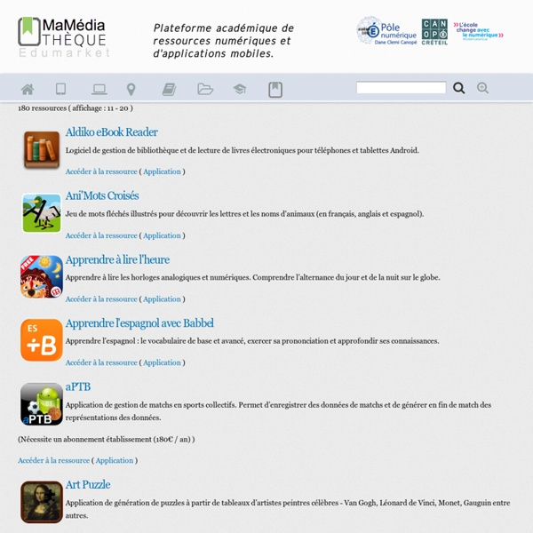 "Applications pour tablettes ""Android"""