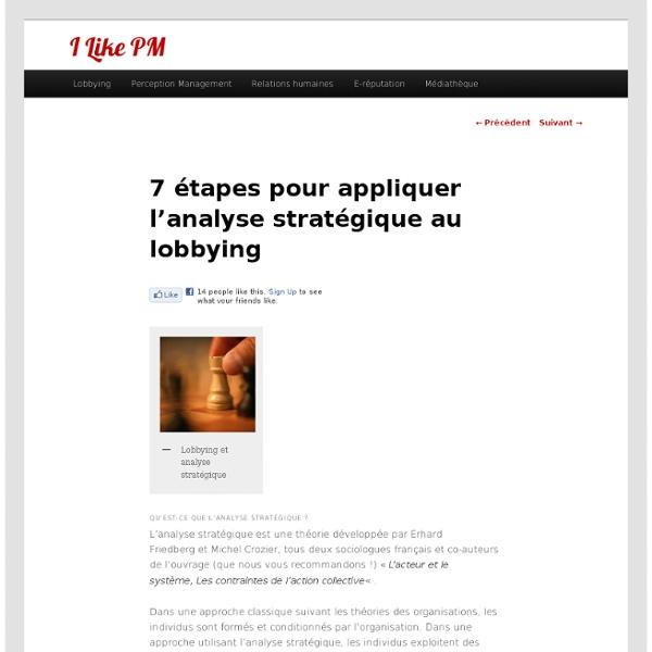 7 étapes pour appliquer l'analyse stratégique au lobbying