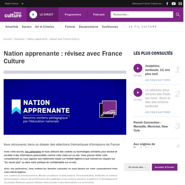 Nation apprenante : révisez avec France Culture