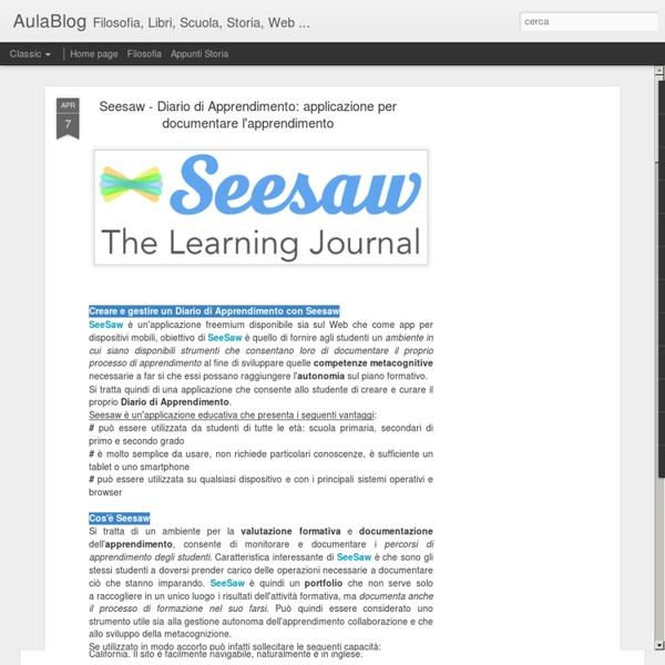 Applicazione per documentare l'apprendimento
