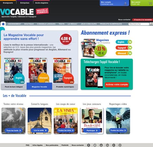 Vocable : magazine pour adolescents et adultes