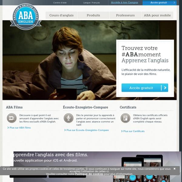 ABA English - Cours d'anglais Gratuit en ligne