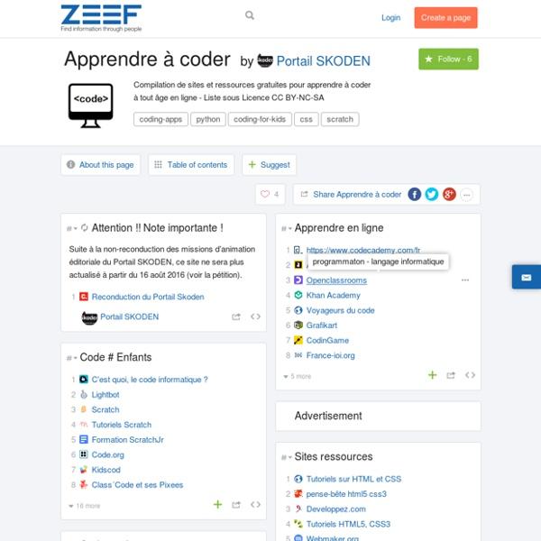 Apprendre à coder by Portail SKODEN