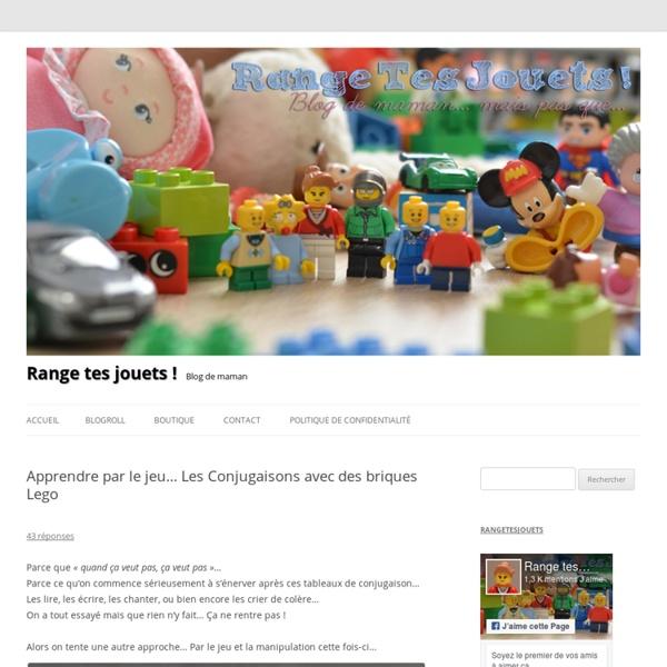 Apprendre par le jeu… Les Conjugaisons avec des briques Lego