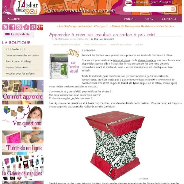 Apprendre à créer ses meubles en carton à prix mini