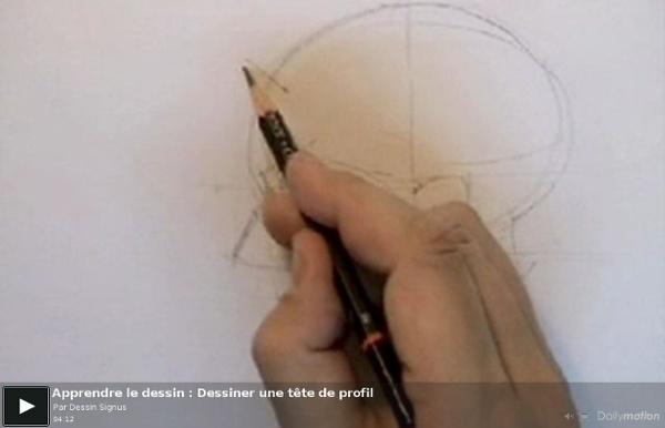 Apprendre le dessin : Dessiner une tête de profil