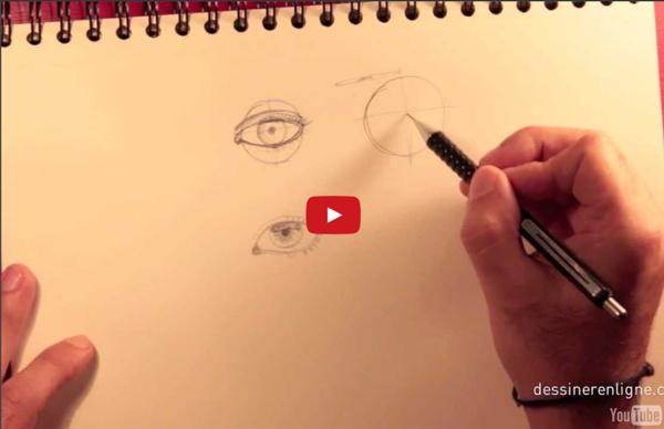 Vos premiers pas pour apprendre a dessiner un visage : l'oeil - Dessinerenligne.com