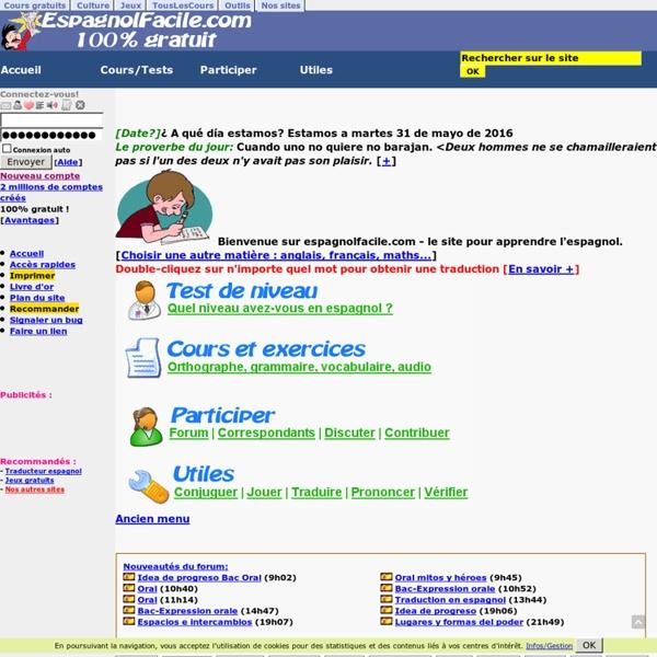 Apprendre l'espagnol - cours d'espagnol gratuits