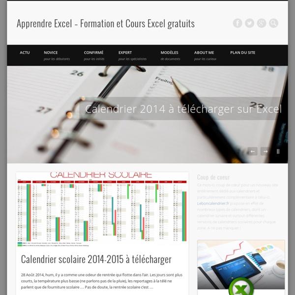 Apprendre Excel - Formation et Cours Excel gratuits