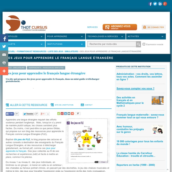 Des jeux pour apprendre le français langue étrangère