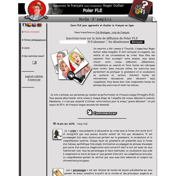 Exceptionnel Polar FLE - apprendre le français - cours et exercices de français  XB99