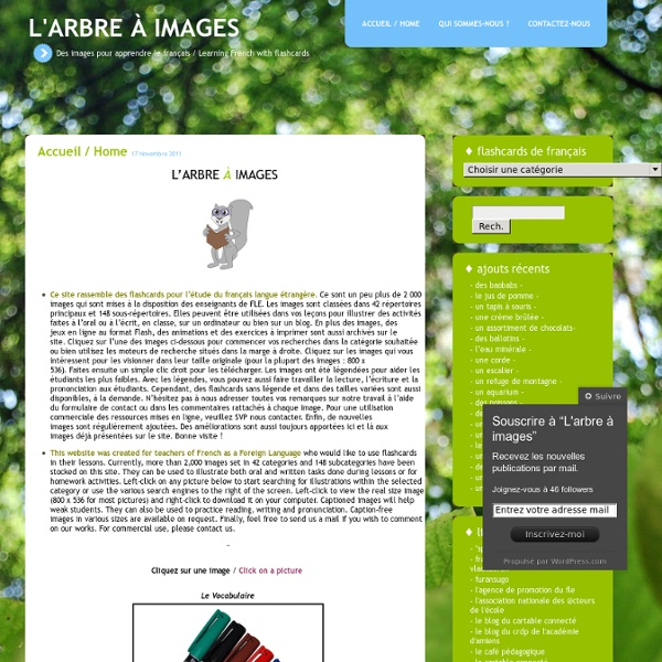 Des images pour apprendre le français / Learning French with flashcards