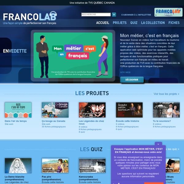 Accueil - Francolab - TV5.ca