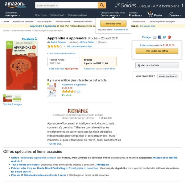 Apprendre à apprendre: Amazon.fr: André Giordan, Jérôme Saltet
