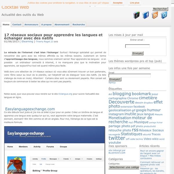 Apprendre les langues en ligne avec 16 réseaux sociaux