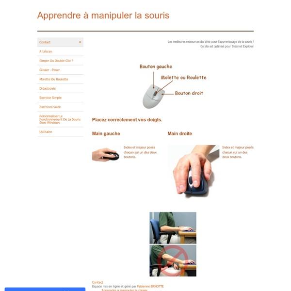 Apprendre à manipuler la souris - Contact