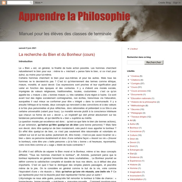 Apprendre la Philosophie
