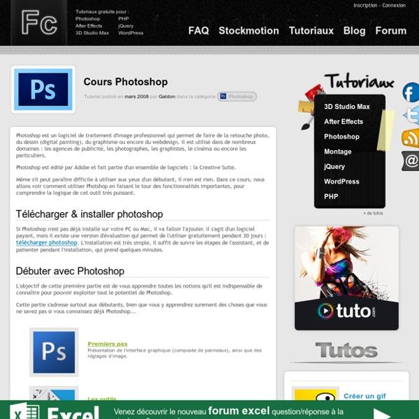 Apprendre à utiliser Photoshop pour les nuls - tutoriel pour débutants