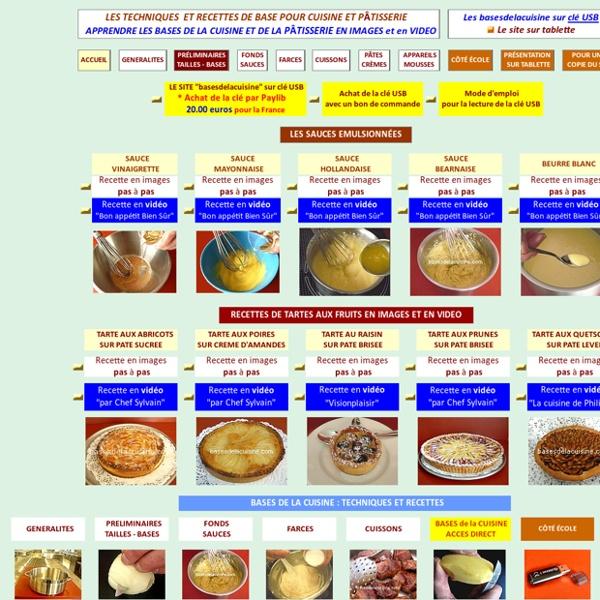 Apprendre les bases et recettes de cuisine et de pâtisserie en images