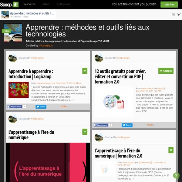 Apprendre : méthodes et outils liés aux technologies