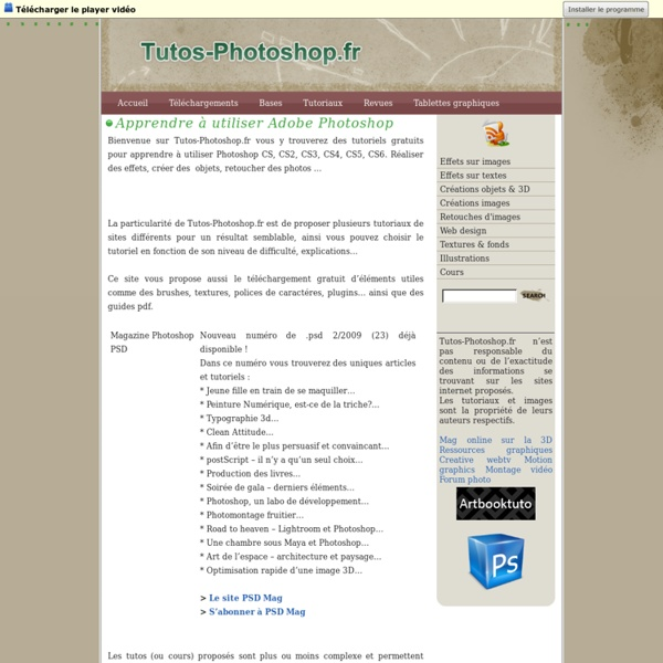 Tutos Photoshop » Apprendre à utiliser Adobe Photoshop