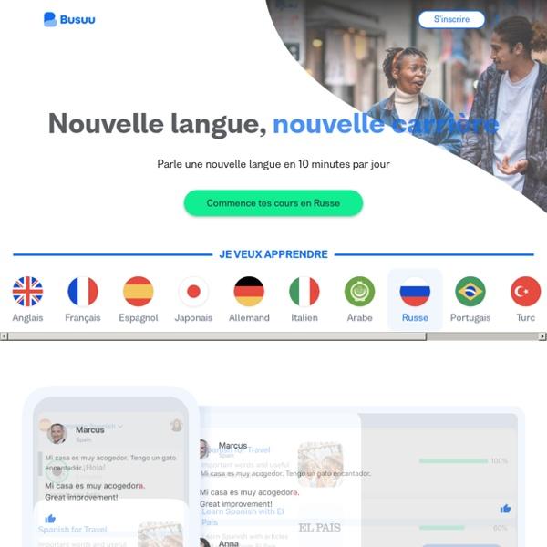 Apprendre l'anglais, l'espagnol, l'italien, l'allemand, le portugais et le français