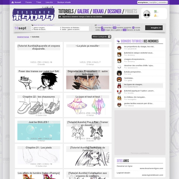Apprends à dessiner manga à l'aide de nos tutoriels - Dessiner Manga